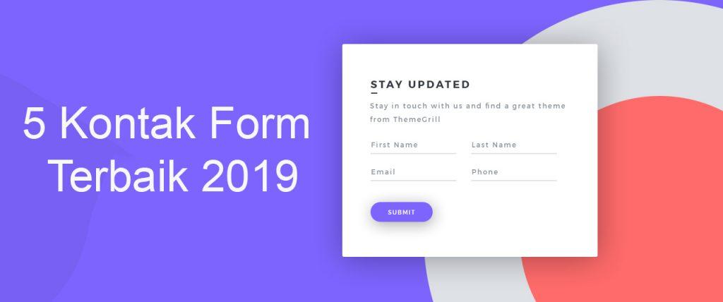 5 Kontak Form WordPress Terbaik 2019